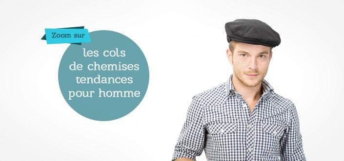 Les cols de chemises pour hommes