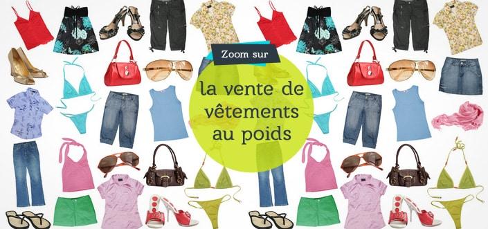 La vente de vêtements au poids
