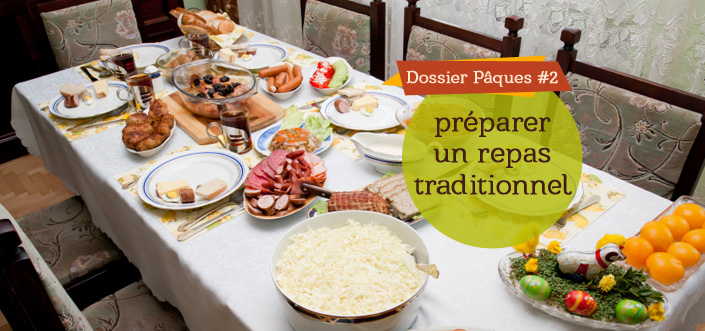 Repas traditionnel Pâques