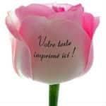 rose imprimée cadeau personnalisé fête des mères