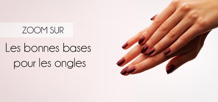 les bases pour les ongles