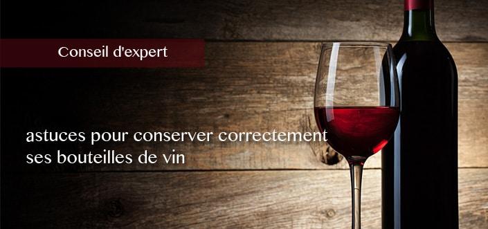 conserver ses bouteilles de vin