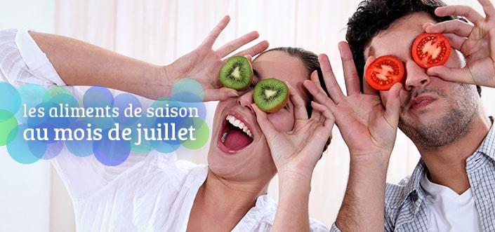 fruits et légumes de saison juillet