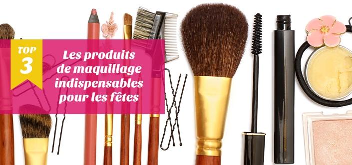 Top 3 maquillage de fête