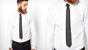 cravate hauteur
