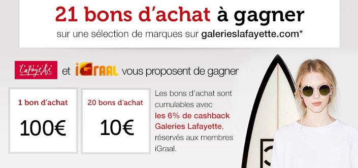 Jeu iGraal et Galeries Lafayette
