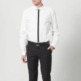 Chemise noire et blanche Zalando