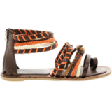 sandales plates spartiates colorés