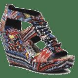 Sandales à talons multicolores