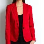 veste rouge en promo