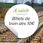Train dès 10€ pour un week-end pas cher en mai