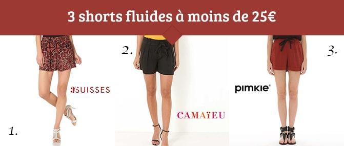 shorts fluides