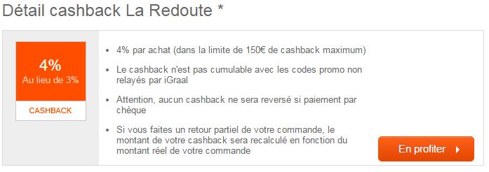 Cashback La Redoute