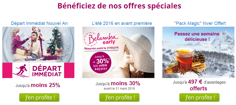 offres promo Belambra