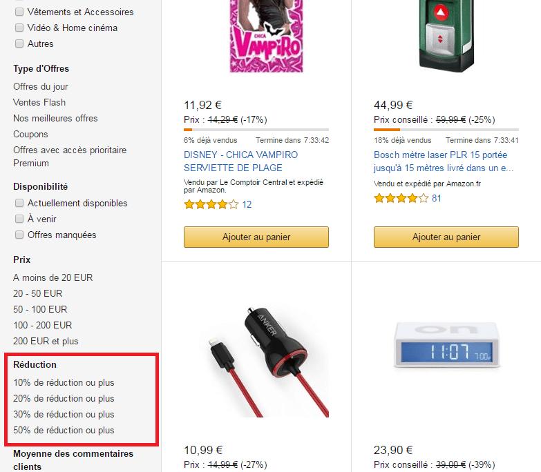 les meilleures promos Amazon