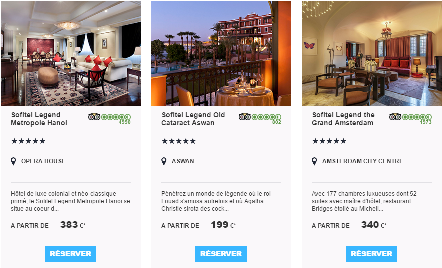 Hôtel luxe accorhotels