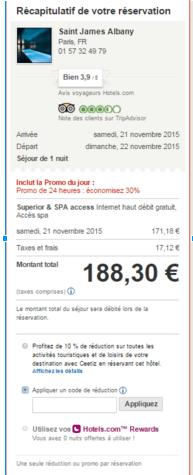 Hotels.com Réservation