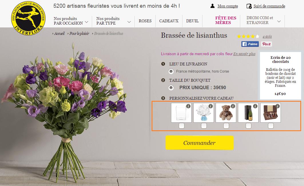 Bouquet de fleurs et cadeau