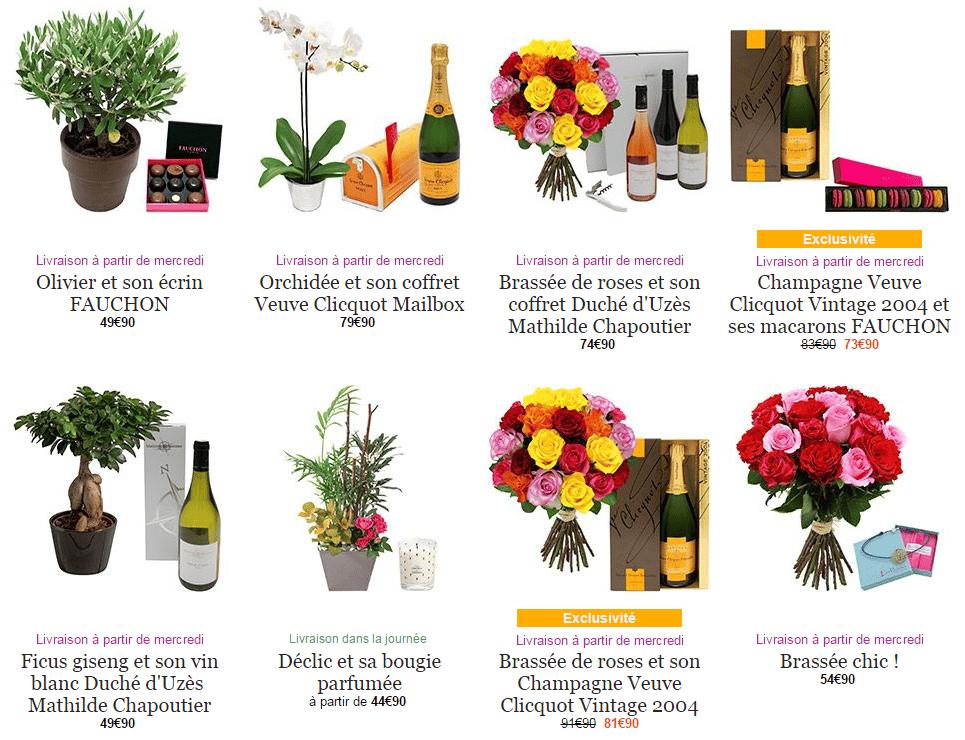 les pack fleurs et cadeaux d'interflora
