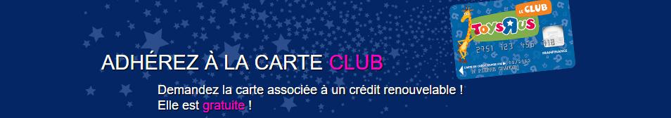 "Carte Club Toys""R""Us"