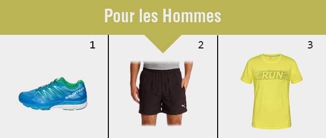 tenues sport hommes