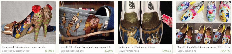 chaussures La Belle et La Bête Etsy