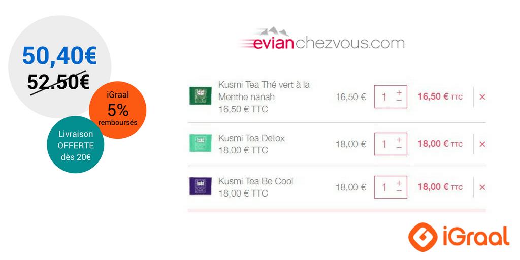 Du cashback chez Kusmi Tea avec Evian Chez Vous ! 4