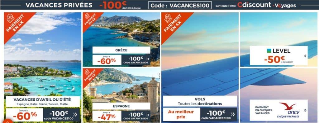 promotions sur des destinations cdiscount voyages à l'étranger