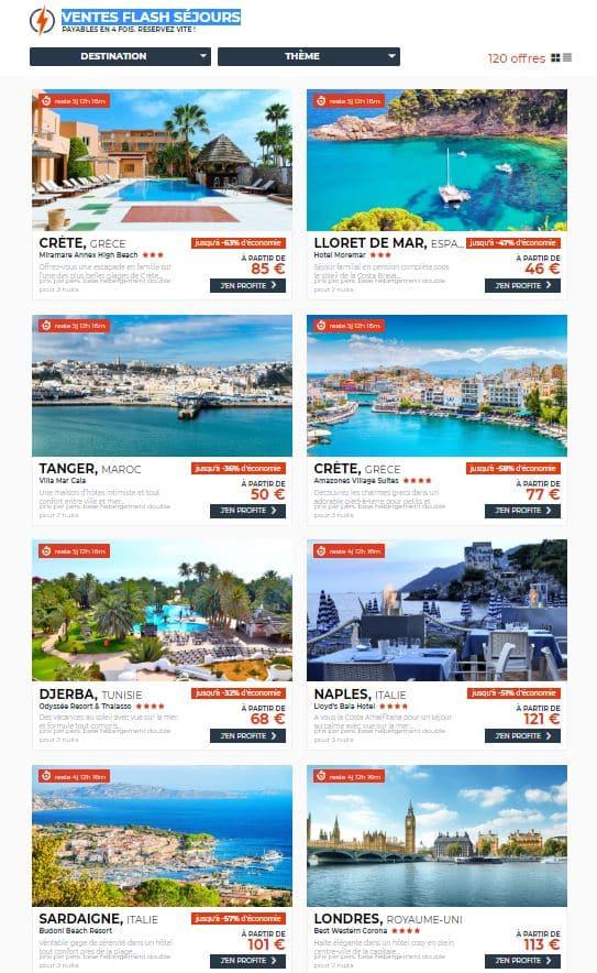 destinations et promotions cdisount voyages de dernière minute