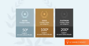 Récompenses badges iGraal