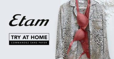 """Service gratuit d'essayage à domicile""""offert par le magasin Etam"""