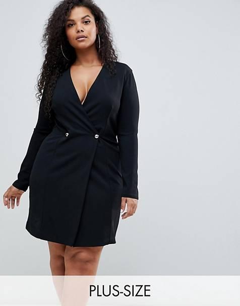 Robe Blazer de la marque Club L Plus vendue par Asos et en promotion. Collection Curve