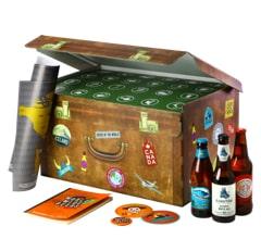 cadeau pas cher pour la fête des père avec ce coffret Saveur Bière et ses 24 bouteilles de différentes régions du monde.