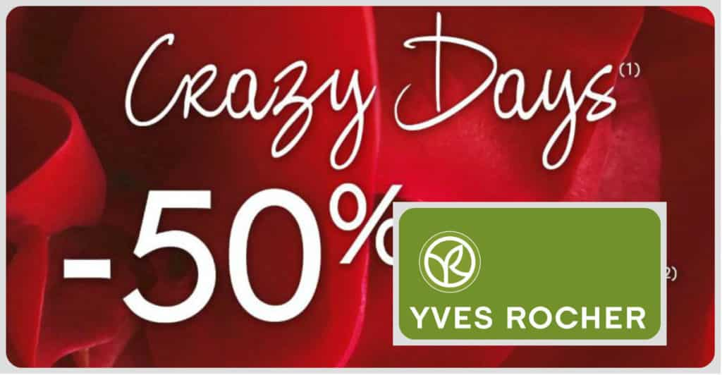 Promotions Yves Rocher jsqu'au 25 juin 2019. 50% de réduction sur tout !