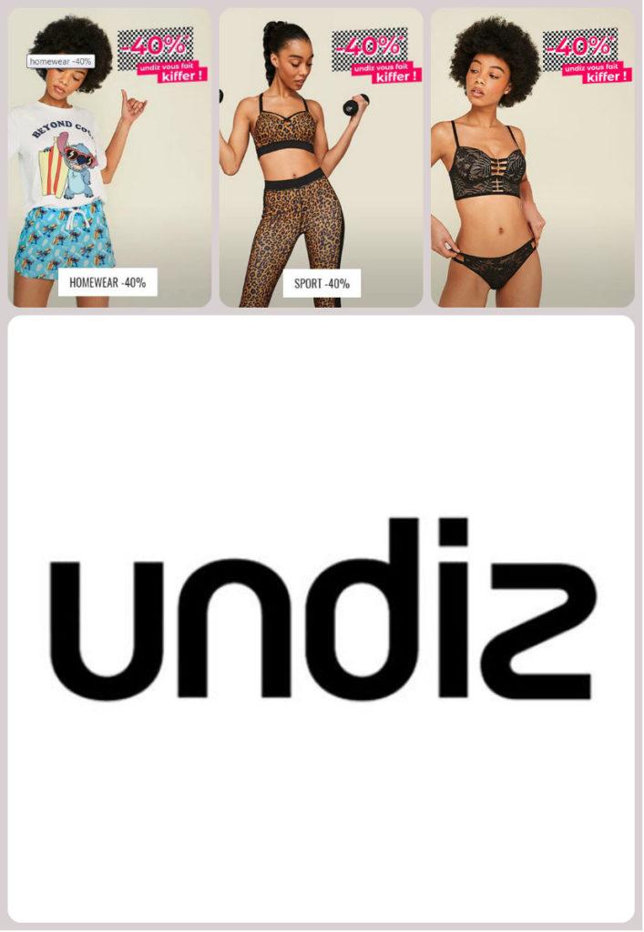 Ventes privées Undiz juin 2019 : 40% de réduction sur la lingerie, le homewear, le sport . Pour Homme et Femme.