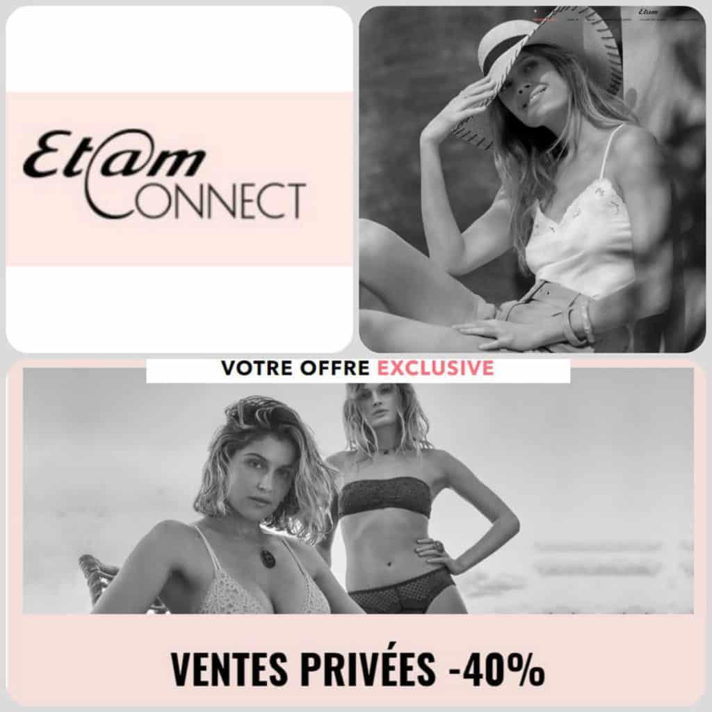 Code promo Etam pour accéder aux ventes privées été 2019.