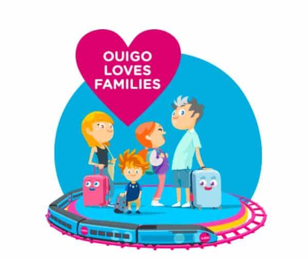 """Forfait """"Ouigo Loves Families"""" à 48e pour 2 adultes et 2 enfants"""