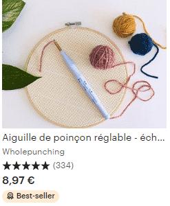 Punch Needle : la broderie en relief : se lancer pour moins de 50€. 2