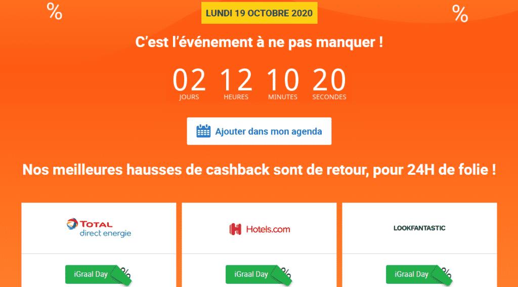 iGraal Day : Des cashbacks exceptionnels vous attendent ! 1