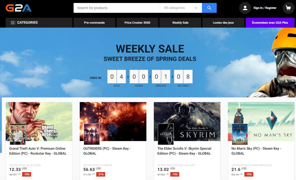 Instant Gaming, G2A : Notre sélection de sites pour vos jeux vidéo ! 3