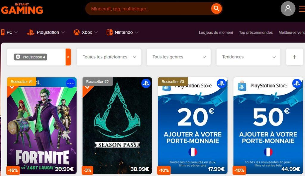 Instant Gaming, G2A : Notre sélection de sites pour vos jeux vidéo ! 1
